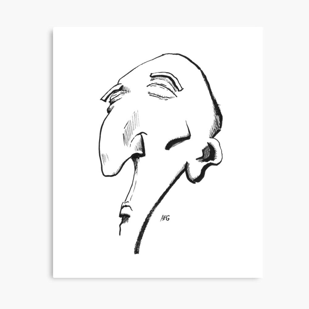 Inktober 2016 Day 13 - Big Nose Canvas Print