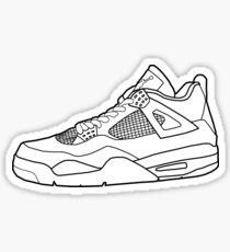 Jordan 4 sneaker outline Sticker