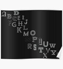 Alphabet Font Poster