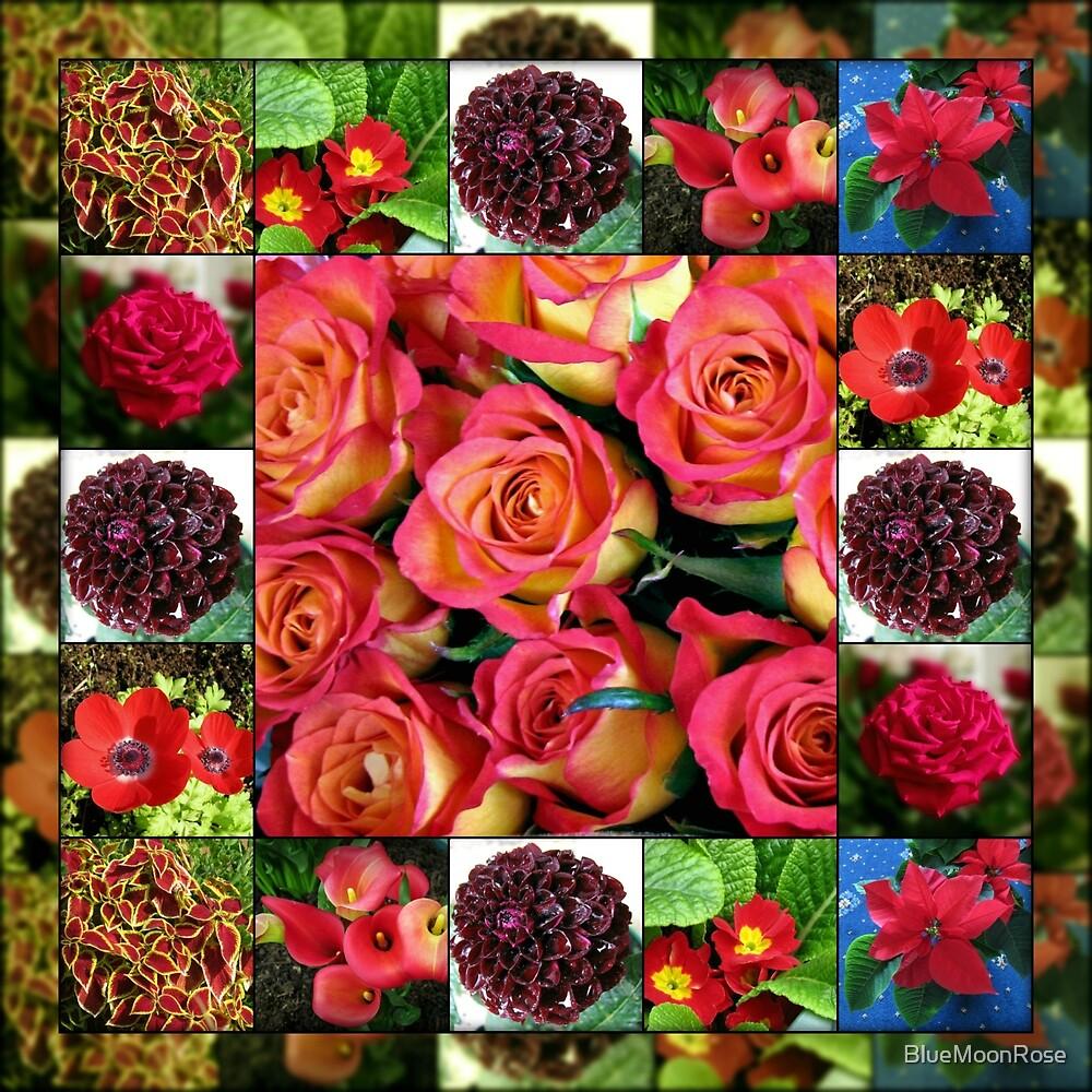 Schatten der roten Blumencollage von BlueMoonRose