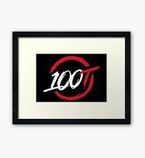 100 Thieves New Black Framed Print