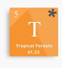 Periodic Table of Climate Solutions - Tropical Forests Metal Print
