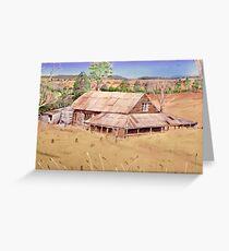 hay shed Mia Mia.  Greeting Card