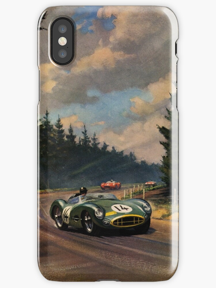 Aston Martin DBR1 - Vintage Racing Car Advertising Print ...