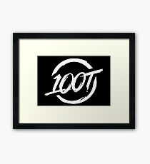 100 Thieves New All White Framed Print