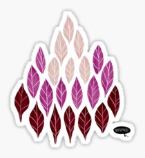 Pink Leaves by VIXTOPHER Sticker