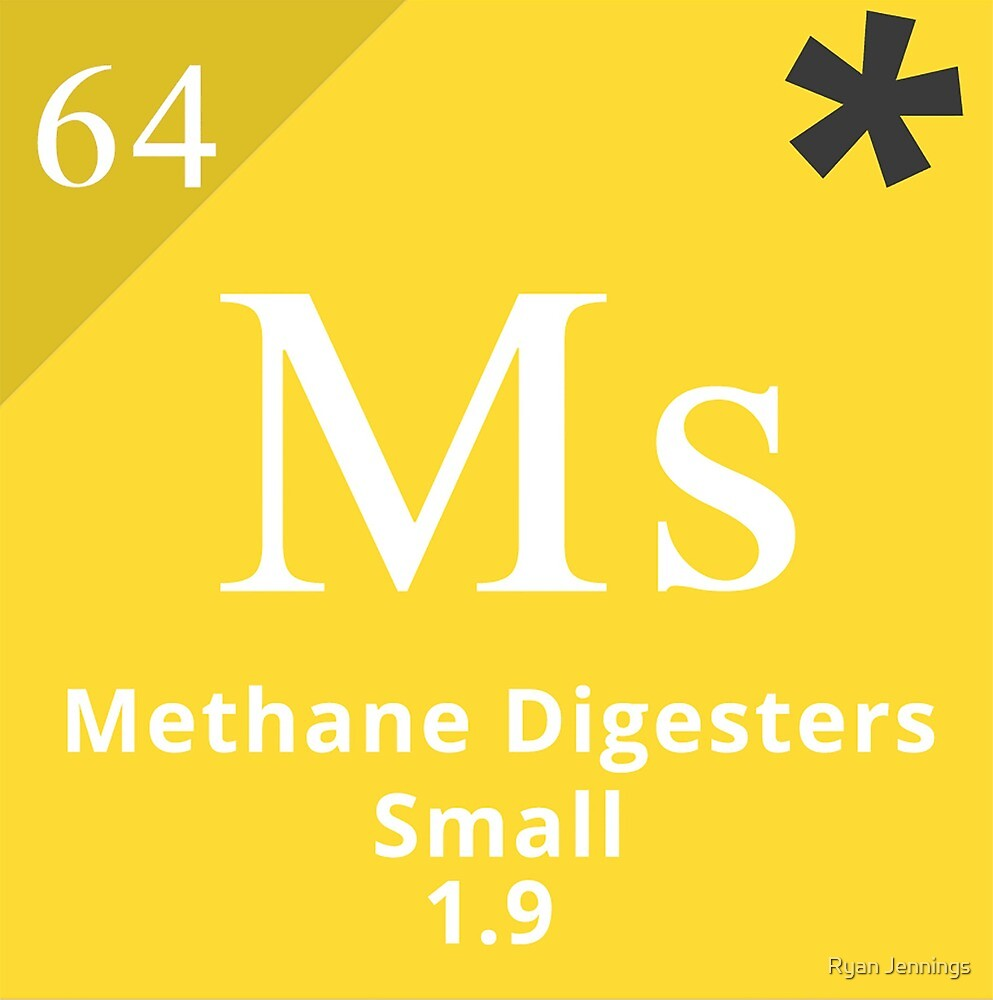 Periodic Table Of Climate Solutions   Methane Digester
