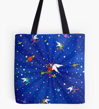 Angel Dudes Starry Night Tote Bag