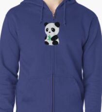 Panda with bamboo Zipped Hoodie