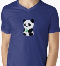 Panda with bamboo Men's V-Neck T-Shirt
