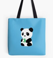 Panda with bamboo Tote Bag
