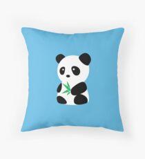Panda with bamboo Throw Pillow