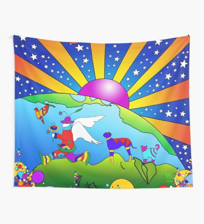 Cosmic Pet World Wall Tapestry