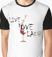 Live, Love, Laugh Graphic T-Shirt