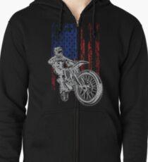 Sudadera con capucha y cremallera Bici de la suciedad del Grunge del motocrós de los EEUU