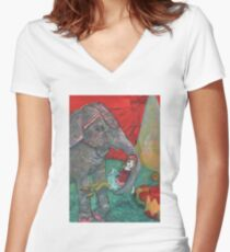 Harriet And Circus Girl Women's Fitted V-Neck T-Shirt