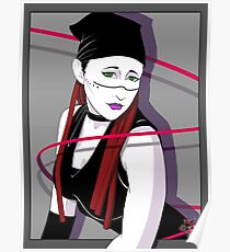 Cybergoth Deco - Patrick Nagel Style Study Poster
