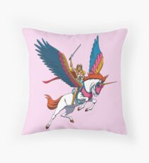 She-Ra and Swiftwind Throw Pillow