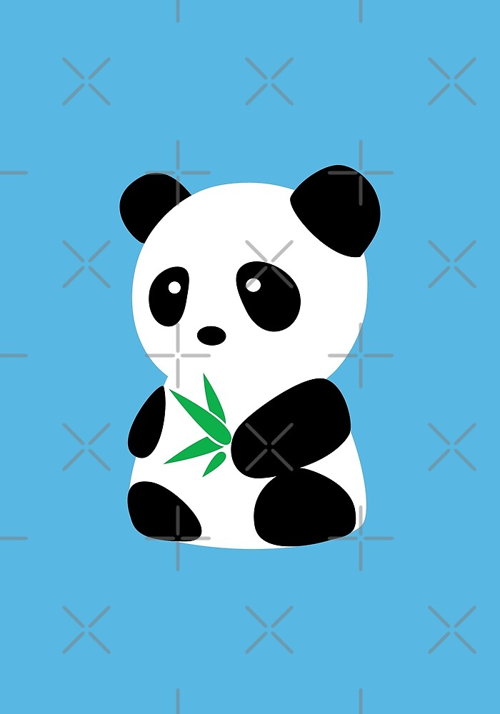 Panda with bamboo by Localist