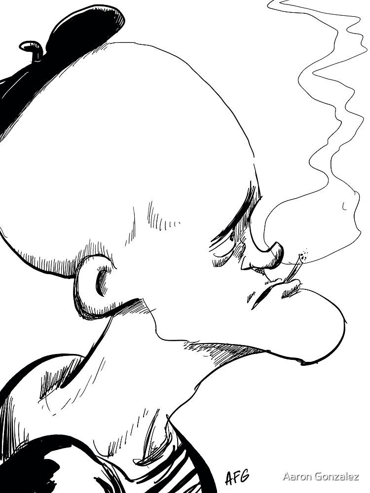 Inktober 2017 Day 04 - French Smoker by Aaron Gonzalez
