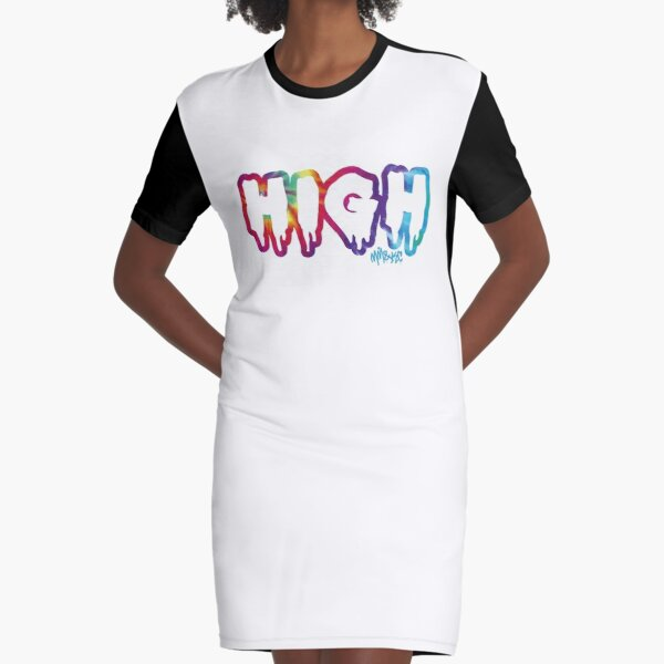High Graphic T-Shirt Dress