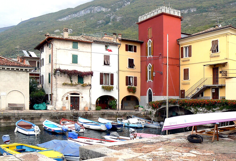 Picturesque port by Lake Garda. Italy by JPPhotography