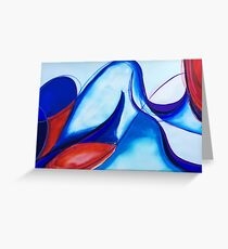 Abstract Watercolour Blue Nude Greeting Card