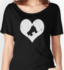 Roller Derby Heart I Love Roller Derby T Shirt Women's Relaxed Fit T-Shirt