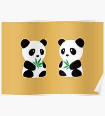 Two Pandas Poster