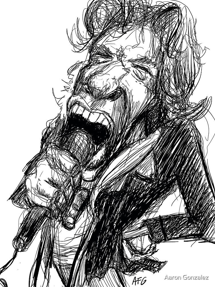Inktober 2017 Day 12 - Rock Singer by Aaron Gonzalez