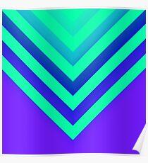 Cyan & Violet Chevron Poster