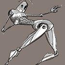 Inktober 2017 Day 15 - Robot by Aaron Gonzalez