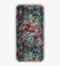 Hübsches Retro Blumen-Chintz-Pfingstrosen-Kaliko-Muster iPhone-Hülle & Cover