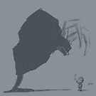 Inktober 2017 Day 19 - Demon and Kid with Flower by Aaron Gonzalez