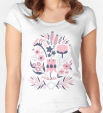 A Place to Flourish (Rose) Women's Fitted Scoop T-Shirt