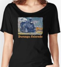 Durango Colorado, Durango Silverton Steam Train Railway Women's Relaxed Fit T-Shirt