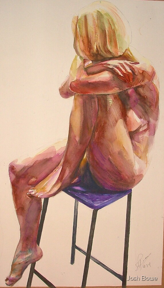 Leg resting on Chair(watercolour) by Josh Bowe