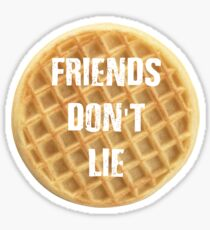Friends Don't lie - Eggo Waffles Eleven Stranger Things Sticker