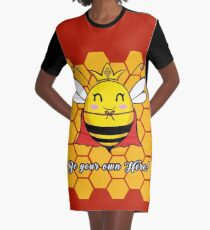 Be Your Own Hero Graphic T-Shirt Dress