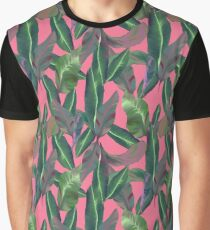 Plants on Pink by Katrina Ward Graphic T-Shirt