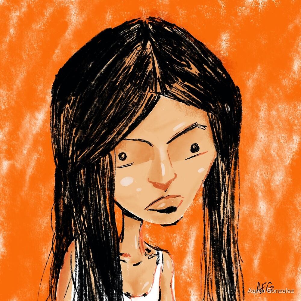 Orange Girl by Aaron Gonzalez