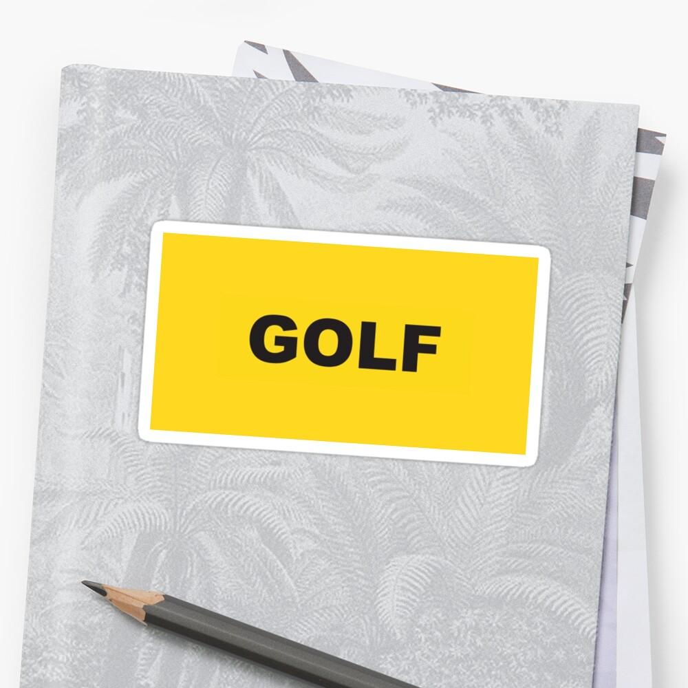 Golf logo Yellow\