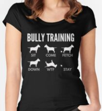 English Bull Terrier Bully Training Women's Fitted Scoop T-Shirt