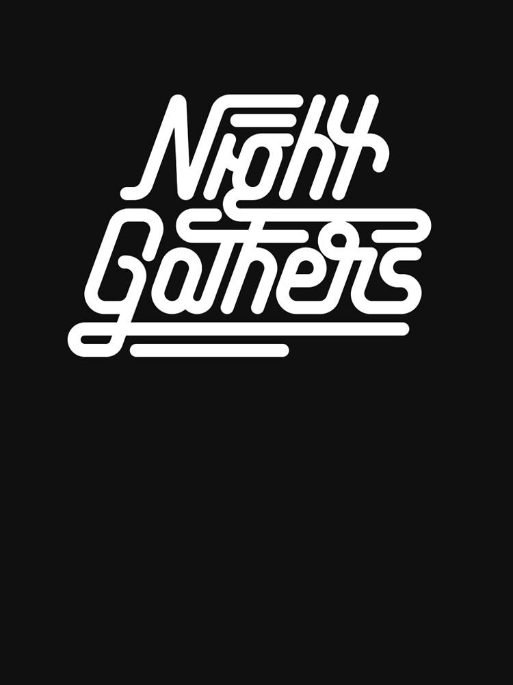 Night Gathers - White Print by nightgathers