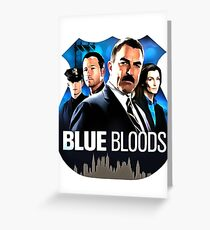 Blue Bloods Greeting Card