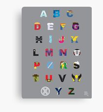 ABC to X Canvas Print