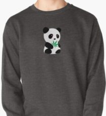 "Panda with ""recreational bamboo"" Pullover"