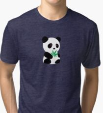 "Panda with ""recreational bamboo"" Tri-blend T-Shirt"