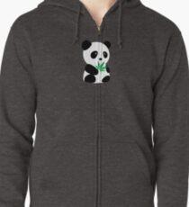 "Panda with ""recreational bamboo"" Zipped Hoodie"