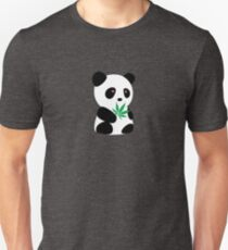 "Panda with ""recreational bamboo"" Unisex T-Shirt"